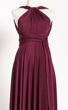 Marsala Maternity Infinity Long Convertible Dress