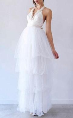 Floor-length Dress With Ruffles