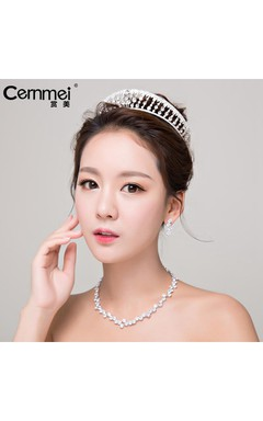 Kunling With The Crown Bride Wedding Headdress Hair Ornaments Wedding Dress Accessories Three Suit