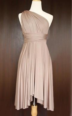 Light Taupe Convertible Wrap Dress