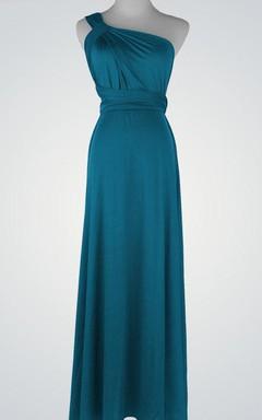 One-Shoulder Chiffon Sleeveless Dress