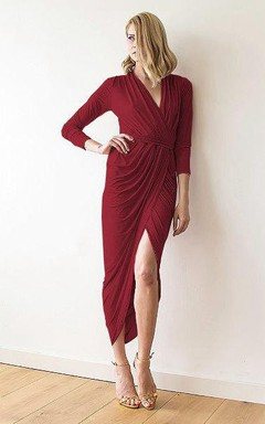 Wrap Maxi Formal Dress With Sash