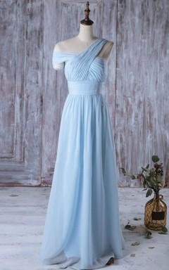 2016 Special Backless Light Blue Bridesmaid Dress