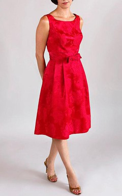 Vintage Red Lace Dress with Bow