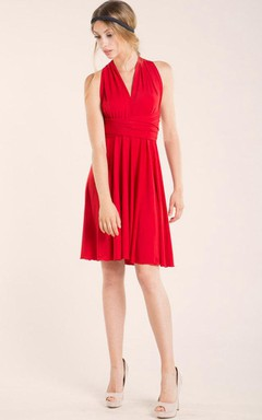 Infinity Convertiable Red Short Dress