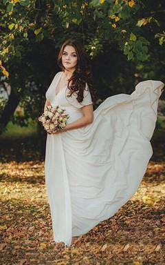 Infinity Floor Length Bridal Gown