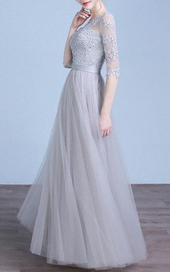 Lace Vintage Prom Evening Lace Bridesmaid Bridal Gown Evening Long Dress