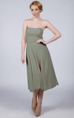 Mini Strapped Chiffon Dress