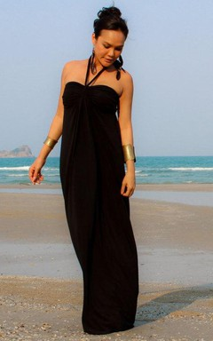 Pencil Floor-Length Sleeveless Dress With Straps