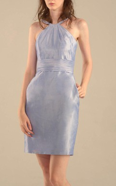 Mini Knee-length Taffeta Dress