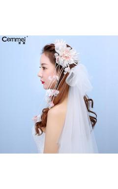 New Brewery Bride Headdress Korean Belt Flower Huanjuanjiao Hand Original Bare Powder Hair Ornament