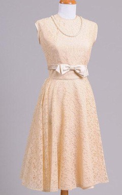 1950 Blush Lace Vintage Wedding Ensemble Dress