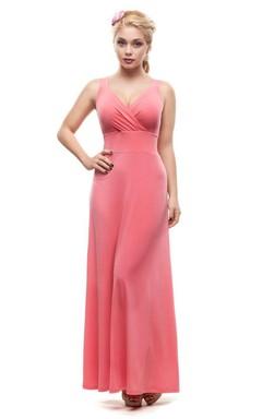Bridesmaid Pink Maxi Dress