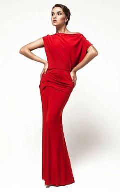 Open Back Oversized Top Sheath Formal Dress