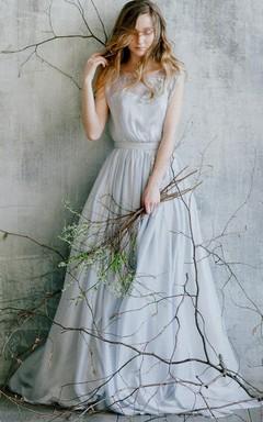 Chiffon&Lace Dress With Flower