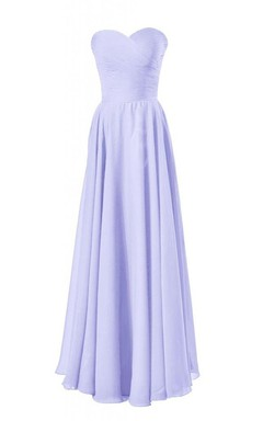 Simple Sweetheart Ruched Chiffon A-line Dress