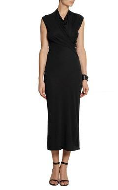 Draped Sleeveless Maxi Dress