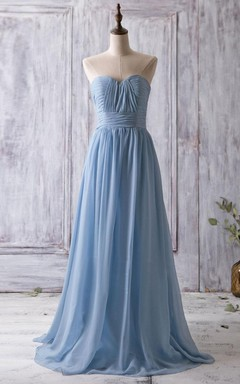 2016 Ruched Light Blue Bridesmaid Dress