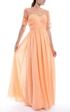 Sweetheart Chiffon&Lace Dress