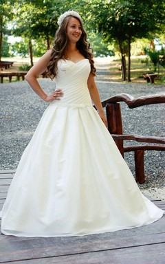 Sweetheart Chiffon Ball Gown With Ruching and Dropped Waist