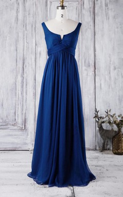 2016 Unique Royal Blue Bridesmaid Dress