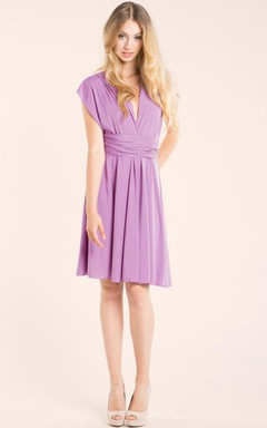Lavender Infinity Convertible Knee Length Dress