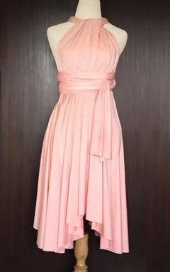 Peach Convertible Wrap Dress
