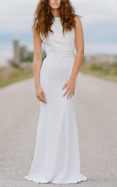 Sequins And Silk Open Back Wedding With Detachable Train 34In Bust Dress