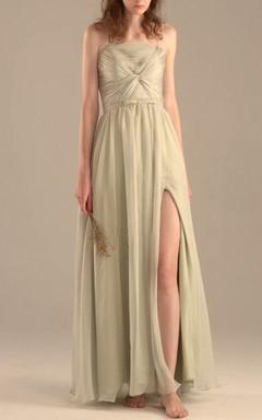 Maxi Strapped Chiffon Dress