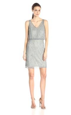 Sleeveless V-neck Short Dress With Sequins