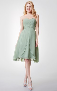 Sweetheart A-Line Knee Length Bridesmaid Dress