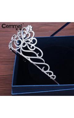 Bride Crown Headdress Korean Bride Micro-Embellished Wedding Day Wedding Dress Accessories
