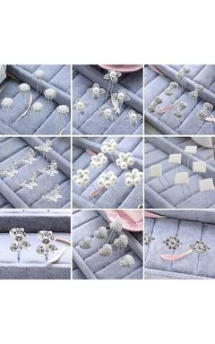 Pan Head Ornaments Bridal Plate Full Of Stars Headdress Pearl U-Type Hairpin Pin Hair Card
