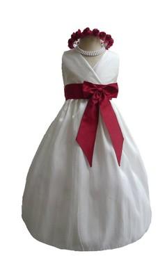Elegant Sleeveless V-neck A-line Dress With Belt