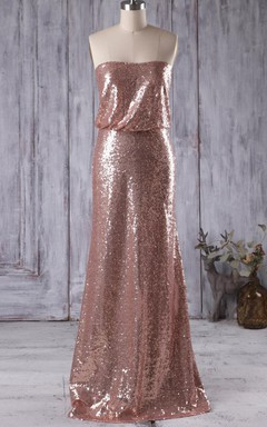 Floor-length Strapped Sweetheart Dress With Draping and Sequins