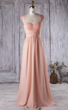 Floor-length Sweetheart Chiffon&Lace Dress