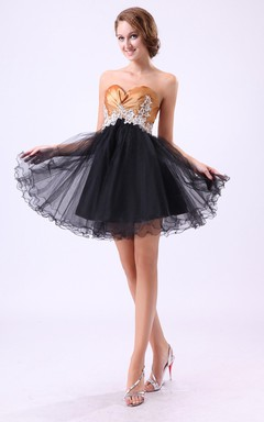 Sweet Sixteen Dress Sheer Lace Corset and Boning Sparkling Sweetheart Neckline