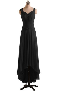 Queen Anne High-low Dress With Basque Waist