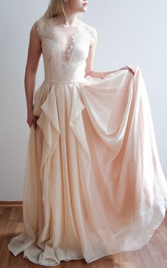 Champagne Chiffon Wedding One Of A Kind Only One Size Dress