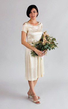 1920S Silk Wedding Vintage Art Deco Wedding Dress