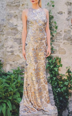 Strikingly Beautiful Gold And Silver Wedding Dress