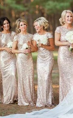 Vestidos para damas de honor color oro