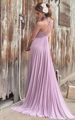 Halter Handmade Jersey Ballgown