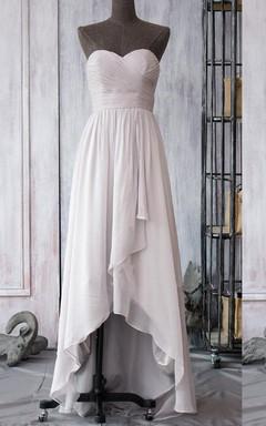 Strapped Sweetheart Chiffon Dress