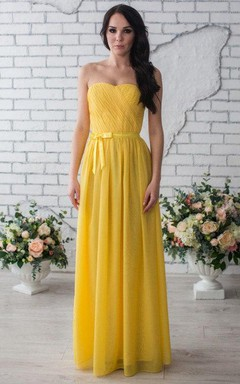 yellow dress h and m 03