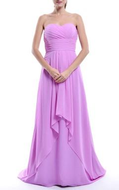 A-line Empire Sweetheart Empire Chiffon Dress