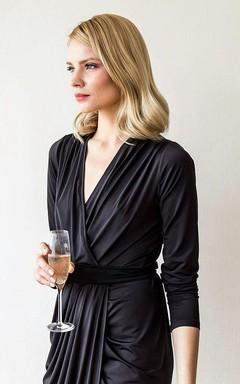 Maxi Wrap Jersey Dress With Sash