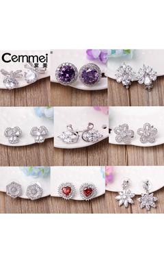 Stylish Temperament Earrings Zircon Bows Pearl Studs Female 925 Silver Needle Simple Earrings