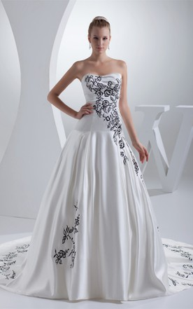 White And Black Wedding Dress Gowns | Two-Tone Bridal Dresses ...