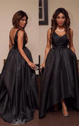 Black Lace Prom Dresses 2018